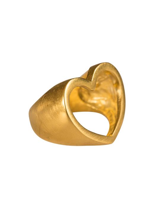 טבעת לב פתוח זהב